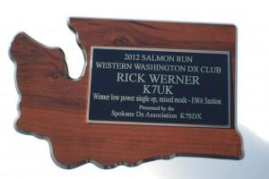 2012 salmon run plaque