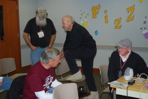 Lamar WA7LT (on right) chatting with Geoff W0CG/PJ2DX & PJ2T