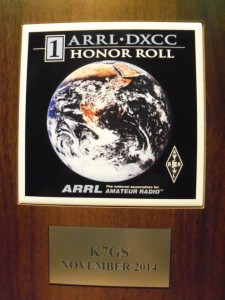 NUMBER ONE HONOR ROLL DXCC AWARD